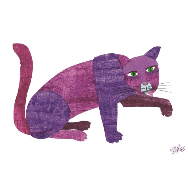 shop brown bear purple cat framed character art by eric carle