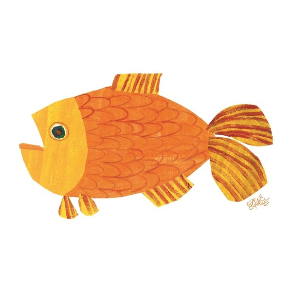 Brown bear character art goldfish by eric carle multi for What do fish see