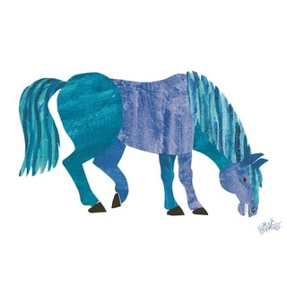 Brown Bear Character Art Blue Horse by Eric Carle