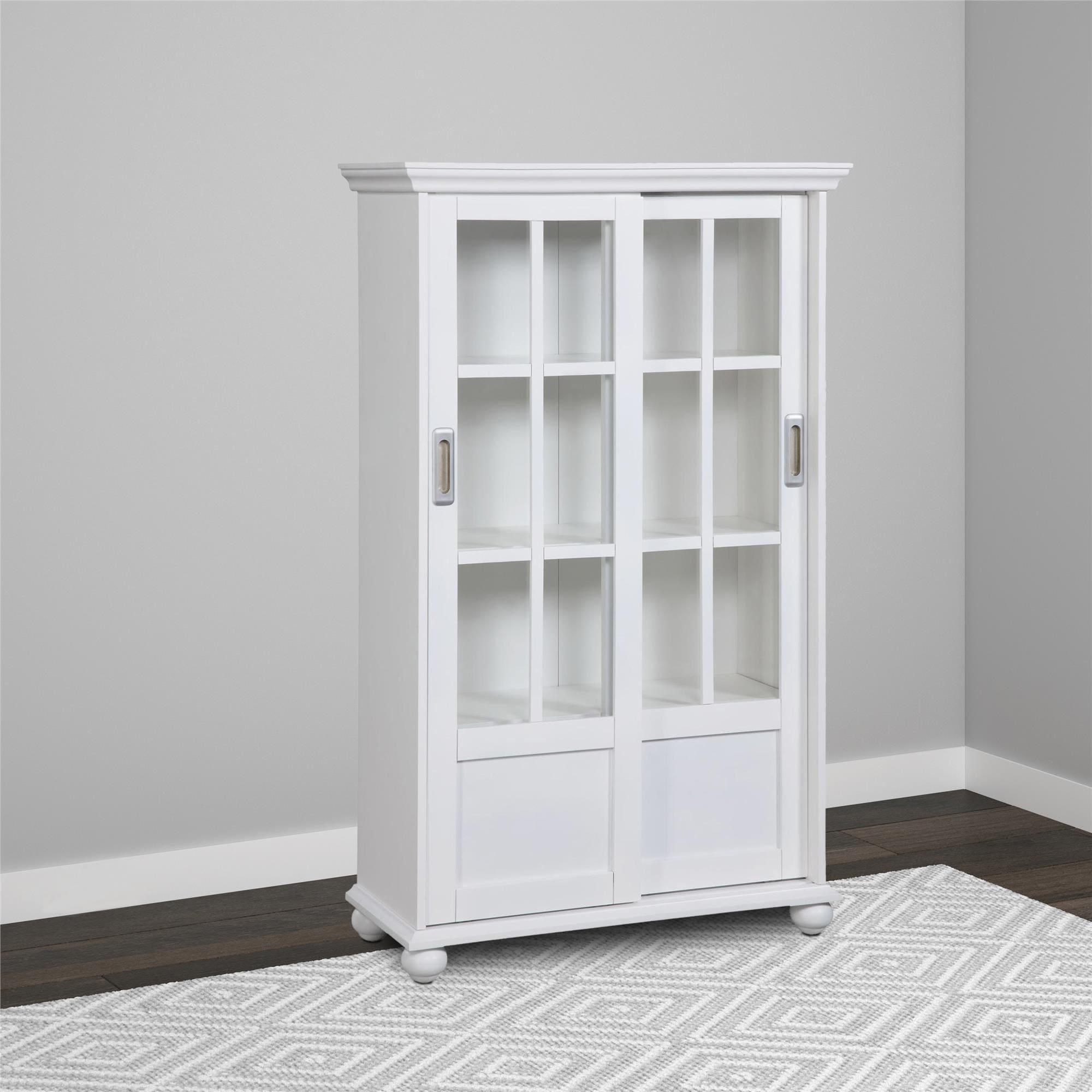 Avenue Greene Abbeywood Bookcase with Sliding Glass Doors