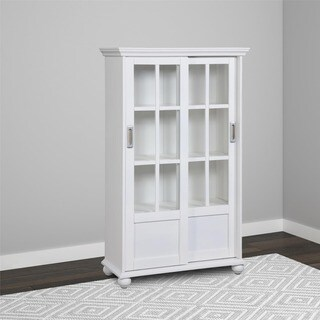 Avenue Greene Abbeywood Bookcase with Sliding Glass Doors