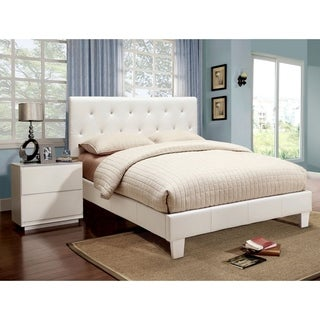 Furniture of America Mircella 2-piece Leatherette Platform Bedroom Set