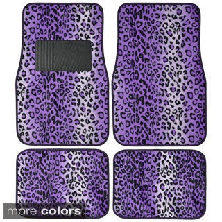 BDK Safari Leopard 4 -piece Universal Carpet Floor Mats Set