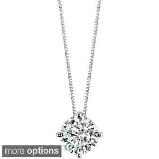 Charles & Colvard 14k Gold 1.50 TGW Round Forever Brilliant Moissanite Solitaire Pendant|https://ak1.ostkcdn.com/images/products/9628848/P16814669.jpg?_ostk_perf_=percv&impolicy=medium