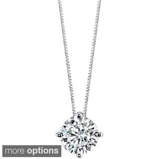 Charles & Colvard 14k Gold 1.50 TGW Round Forever Brilliant Moissanite Solitaire Pendant|https://ak1.ostkcdn.com/images/products/9628848/P16814669.jpg?impolicy=medium