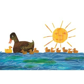 10 Little Rubber Ducks Character Art Ducklings 1 Canvas Art by Eric Carle