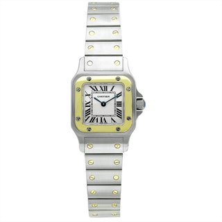 Cartier Women's W20012C4 Santos Square Silver Bracelet Watch