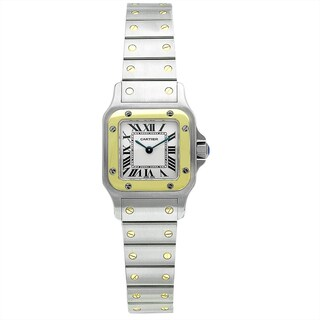 Cartier Women's W20012C4 Santos Square Silver Bracelet Watch|https://ak1.ostkcdn.com/images/products/9628881/P16814573.jpg?_ostk_perf_=percv&impolicy=medium
