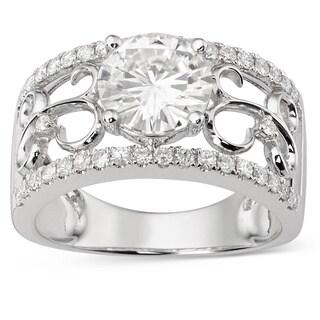Charles & Colvard 14k Gold 2.28 TGW Round Forever Brilliant Moissanite Fashion Ring