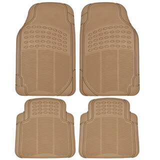 BDK Ridged All-weather 4-piece Heavy Duty Rubber Car Floor Mats (3 options available)