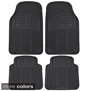 BDK Ridged All-weather 4-piece Heavy Duty Rubber Car Floor Mats