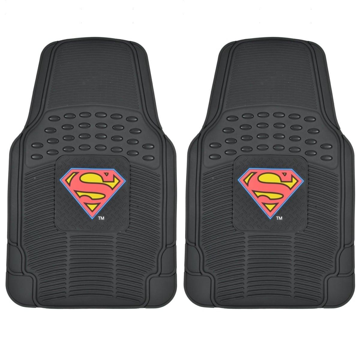 Warner Brothers BDK Superman Rubber Floor Mats 2-Piece Of...
