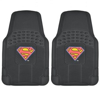 BDK Superman Rubber Floor Mats 2-Piece Officially Licensed Products