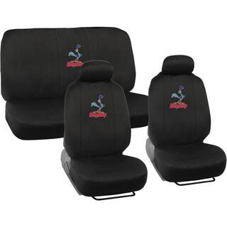 BDK Road Runner Car Seat Covers - Full Set Plus Steering Wheel Cover and Belt Pads