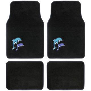 BDK Dolphins Design 4-piece Car Floor Mats (Universal Fit)