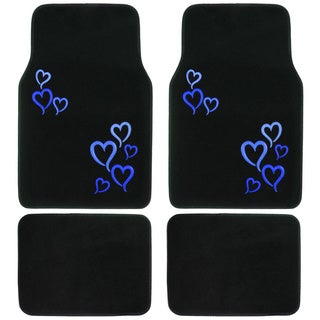BDK Hearts Love Design 4-piece Car Floor Mats (Universal Fit)