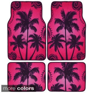 BDK Palm Tree Design 4-piece Car Floor Mats (Universal Fit)
