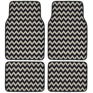 BDK Chevron Design 4-piece Car Floor Mats (Universal Fit)
