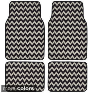 BDK Chevron Design 4-piece Car Floor Mats (Universal Fit)