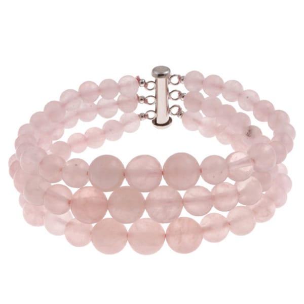 Pearlz Ocean Quartz Triple Strand Journey Bracelet Jewelry for Womens