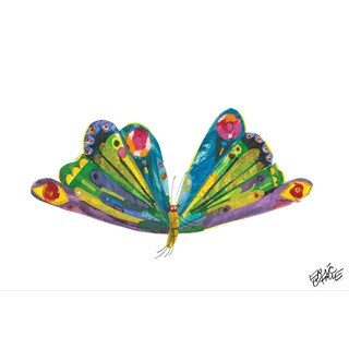 Eric Carle The Very Hungry Caterpillar Character Art Butterfly 1 Canvas Print - Multi-color
