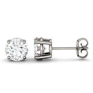 Charles & Colvard 14k Gold 0.46 TGW Round Forever Brilliant Moissanite Stud Earrings