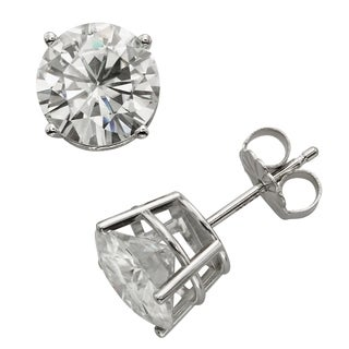 Charles & Colvard 14k Gold 3.80 TGW Round Forever Brilliant Moissanite Stud Earrings