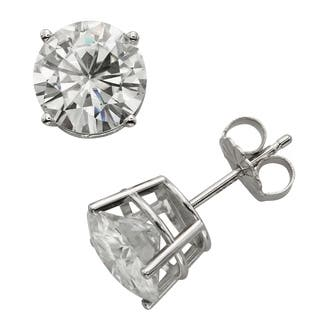 Charles & Colvard 14k Gold 3.80 TGW Round Forever Brilliant Moissanite Stud Earrings|https://ak1.ostkcdn.com/images/products/9628951/P16814637.jpg?impolicy=medium