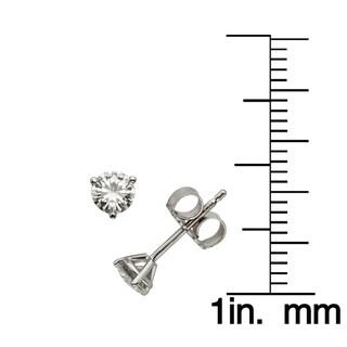 Charles & Colvard 14k Gold 0.46 TGW Round Forever Brilliant Moissanite Stud Earrings