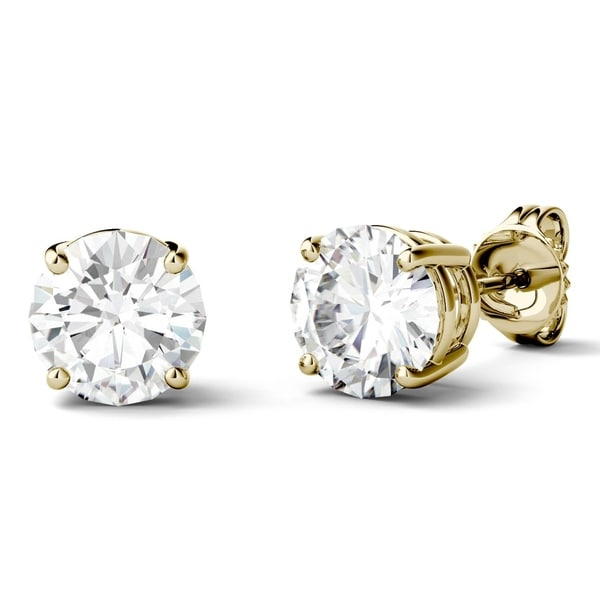 Charles & Colvard 14k White Gold 2 2/5ct TGW Forever Brilliant Moissanite Stud Earrings