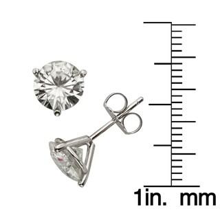 Charles & Colvard 14k Gold 3.00 TGW Round Forever Brilliant Moissanite Stud Earrings