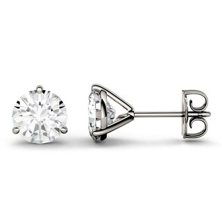 Moissanite by Charles & Colvard 14k Gold 3.00 TGW Round Stud Earrings