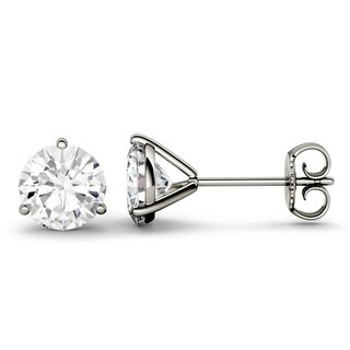 Moissanite by Charles & Colvard 14k Gold 2.00 TGW Round Stud Earrings