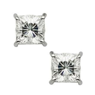 Charles & Colvard 14k Gold 3.40 TGW Cushion Forever Brilliant Moissanite Stud Earrings