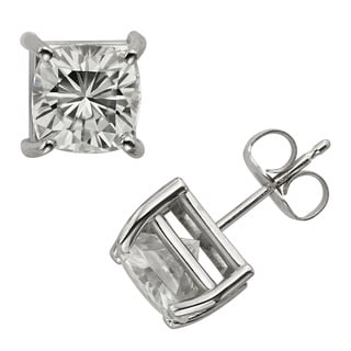 Charles & Colvard 14k Gold 3.40 TGW Cushion Forever Brilliant Moissanite Stud Earrings