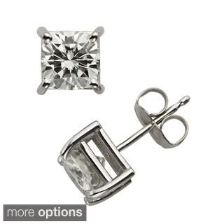 Charles & Colvard 14k Gold 2.20 TGW Cushion Forever Brilliant Moissanite Stud Earrings|https://ak1.ostkcdn.com/images/products/9628967/P16814651.jpg?impolicy=medium