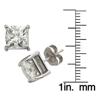 Charles & Colvard 14k Gold 4.00 TGW Cushion Forever Brilliant Moissanite Stud Earrings