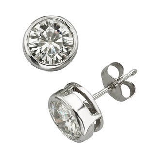 Charles & Colvard 14k Gold 1.60 TGW Round Forever Brilliant Moissanite Stud Earrings