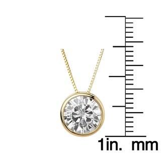 Charles & Colvard 14k Gold 1.90 TGW Round Forever Brilliant Moissanite Solitaire Pendant