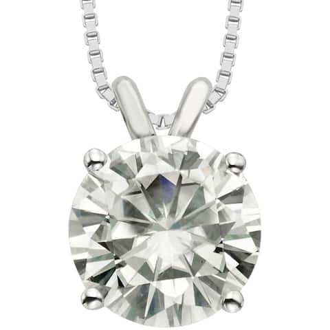 Moissanite by Charles & Colvard 14k Gold 3.10 TGW Round Solitaire Pendant