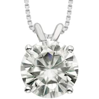Charles & Colvard 14k Gold 3.10 TGW Round Forever Brilliant Moissanite Solitaire Pendant|https://ak1.ostkcdn.com/images/products/9628983/P16814666.jpg?impolicy=medium