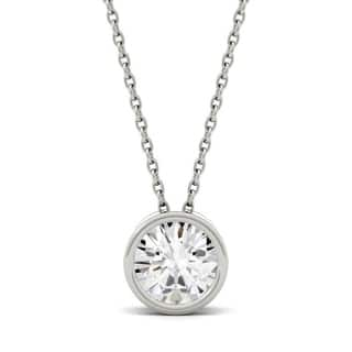 Charles & Colvard 14k Gold 1.00 TGW Round Forever Brilliant Moissanite Solitaire Pendant|https://ak1.ostkcdn.com/images/products/9628989/P16814672.jpg?impolicy=medium