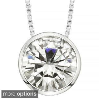 Charles & Colvard 14k Gold 2.70 TGW Round Forever Brilliant Moissanite Solitaire Pendant|https://ak1.ostkcdn.com/images/products/9628991/P16814674.jpg?impolicy=medium