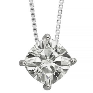 Charles & Colvard 14k Gold 2.00 TGW Cushion Forever Brilliant Moissanite Solitaire Pendant|https://ak1.ostkcdn.com/images/products/9629001/P16814683.jpg?_ostk_perf_=percv&impolicy=medium