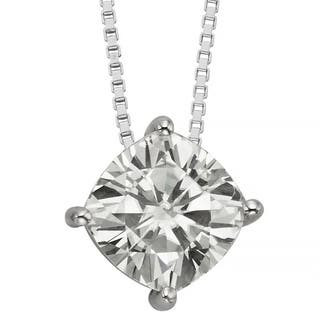 Charles & Colvard 14k Gold 2.00 TGW Cushion Forever Brilliant Moissanite Solitaire Pendant|https://ak1.ostkcdn.com/images/products/9629001/P16814683.jpg?impolicy=medium