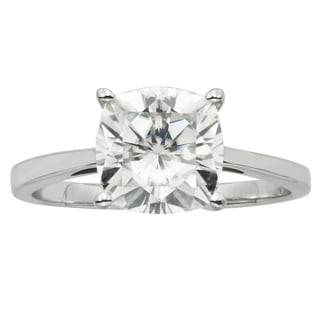 Charles & Colvard 14k Gold 2.80 TGW Cushion Forever Brilliant Moissanite Solitaire Ring