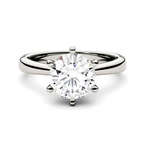 1.50ct Moissanite Solitaire Engagement Ring in 14k Gold