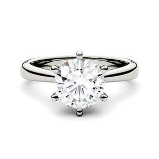 Charles & Colvard 14k White Gold 1 1/2ct DEW Forever Brilliant Round Moissanite Solitaire Ring|https://ak1.ostkcdn.com/images/products/9629006/P16814689.jpg?impolicy=medium