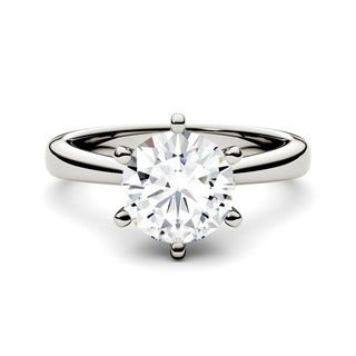 Charles & Colvard 14k White Gold 1 1/2 ct TGW Forever Brilliant Round Moissanite Solitaire Ring