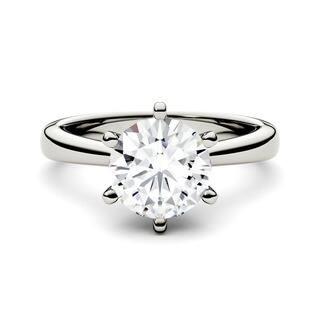 Charles & Colvard 14k White Gold 1 1/2 ct TGW Forever Brilliant Round Moissanite Solitaire Ring